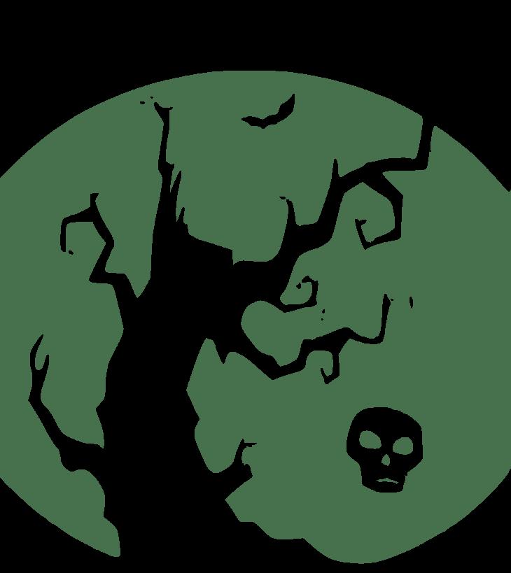 Creepy Halloween Tree Free Halloween Printable Clip Art
