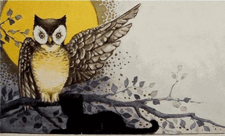 Creepy Owl Halloween Printable