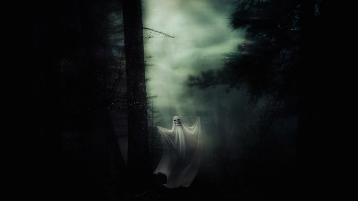 Floating Ghost | Halloween Art You Can Print