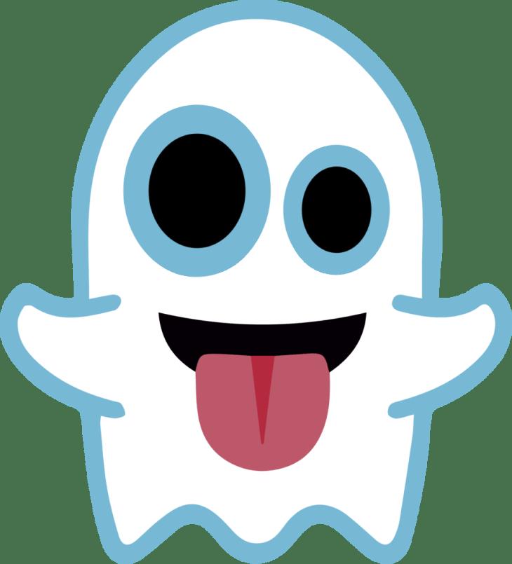 Ghost Halloween Emoji | Halloween Clip Art