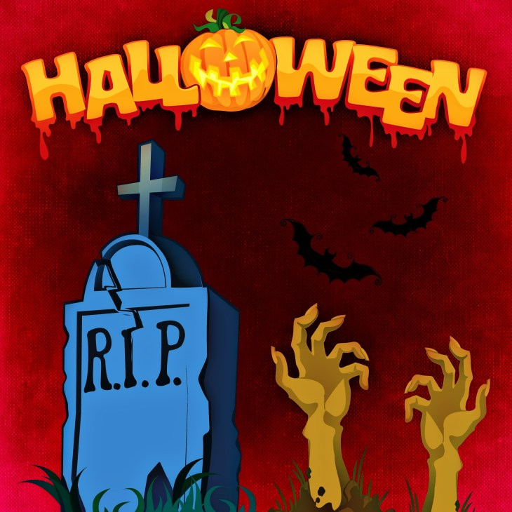 Grave With Zombie Hands Halloween Printable