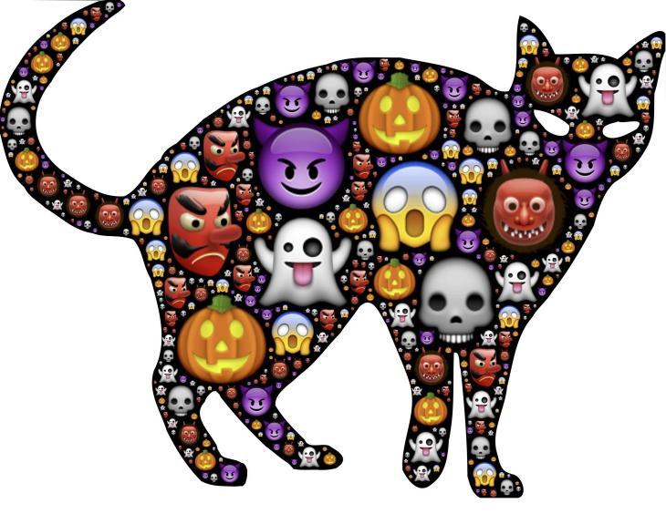 Halloween Emoji Black Cat | Printable Halloween Art