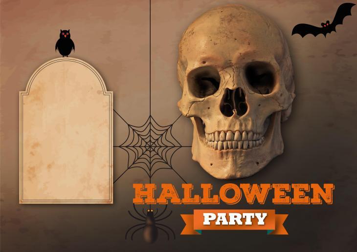 Printable Halloween Party Invitation Template