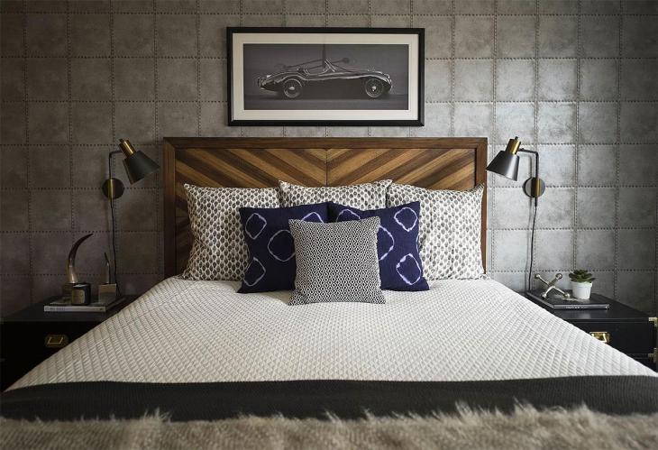 Masculine Fabrics Bedroom Decor