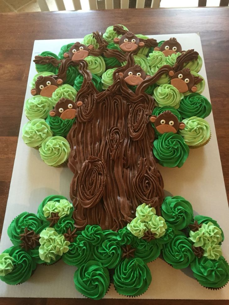 Monkey Cupcake Tree