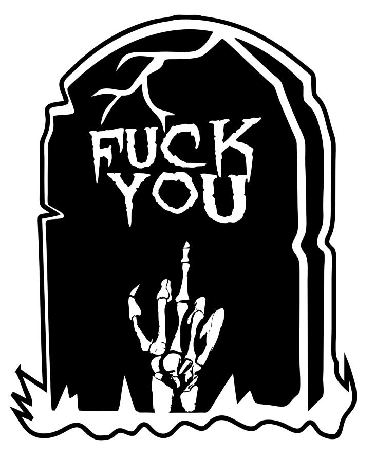 Pissed Off Skeleton Halloween Printable Clip Art