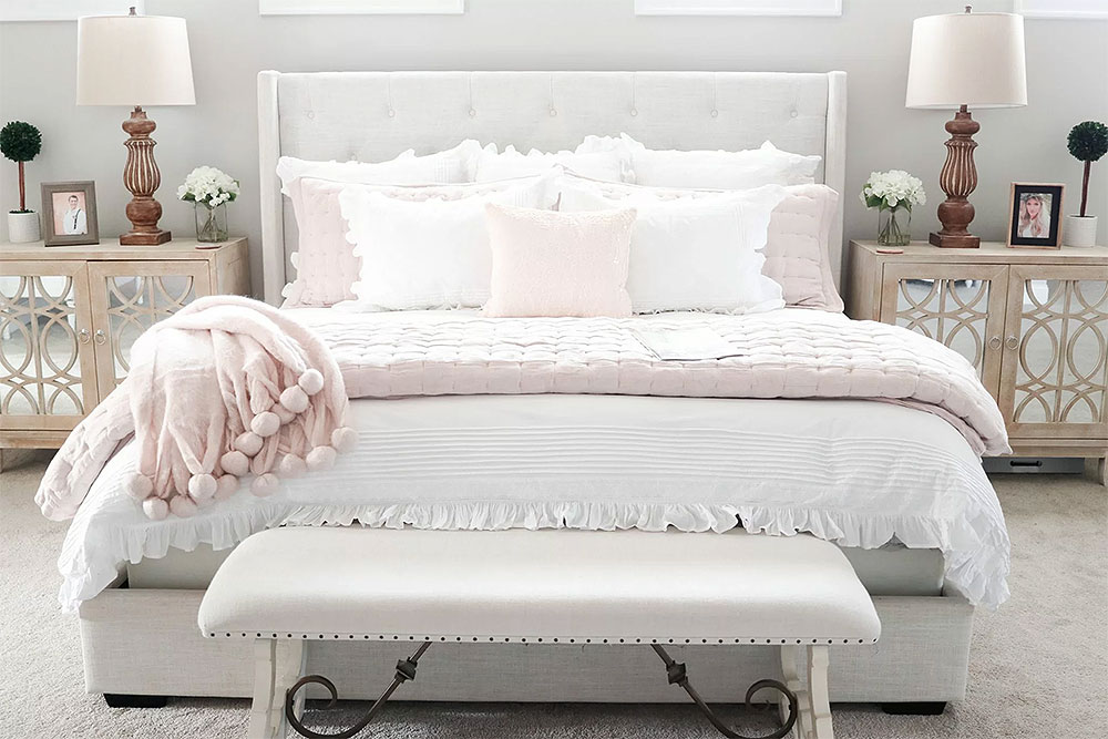 Pretty in Pink French Country Bedroom