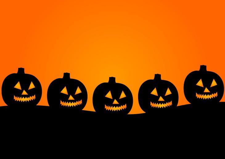 Row of Pumpkins Halloween Printable