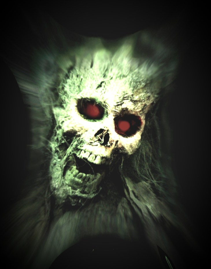 Screaming Ghoul Halloween Printable Art