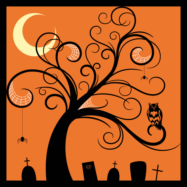 Spider & Owl Tree Halloween Printable