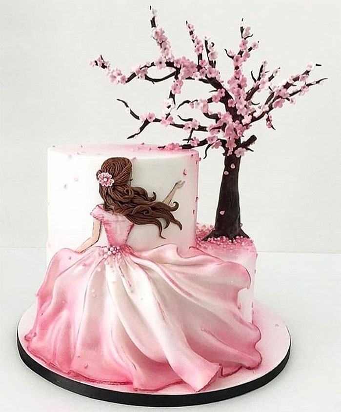 Spring Beauty Birthday Cake
