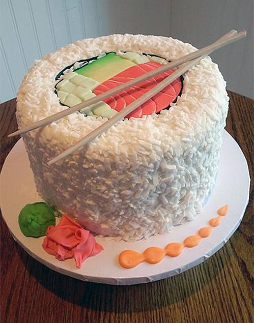 Sushi Roll Birthday Cake