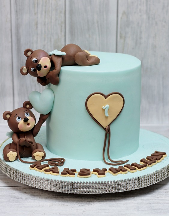 Teddy Bear Boy's Birthday Cake