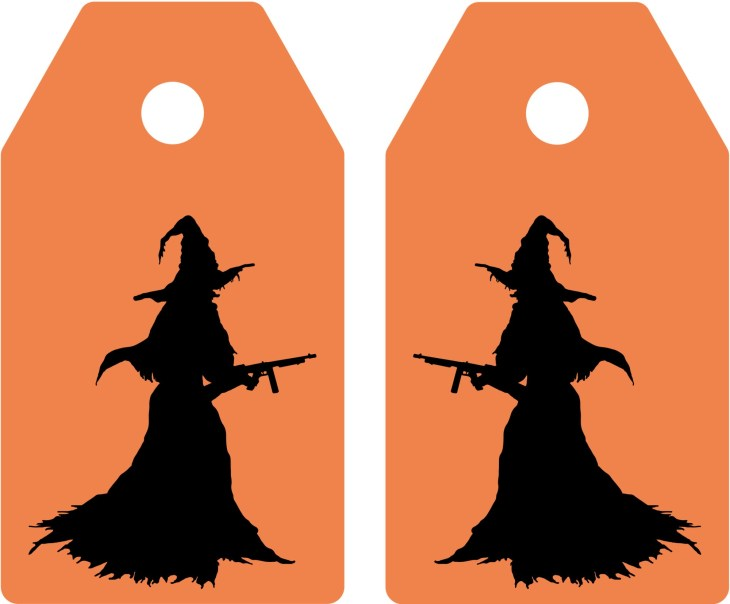Witch Halloween Printable Tags