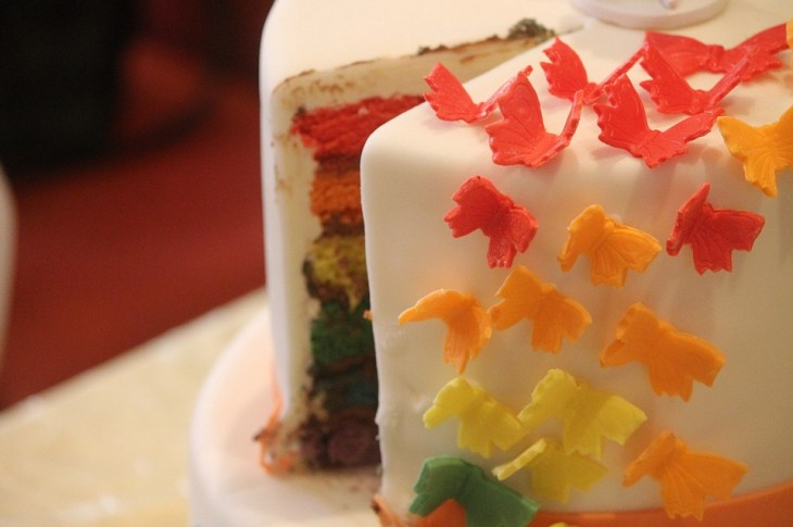 Rainbows & Butterflies Cake