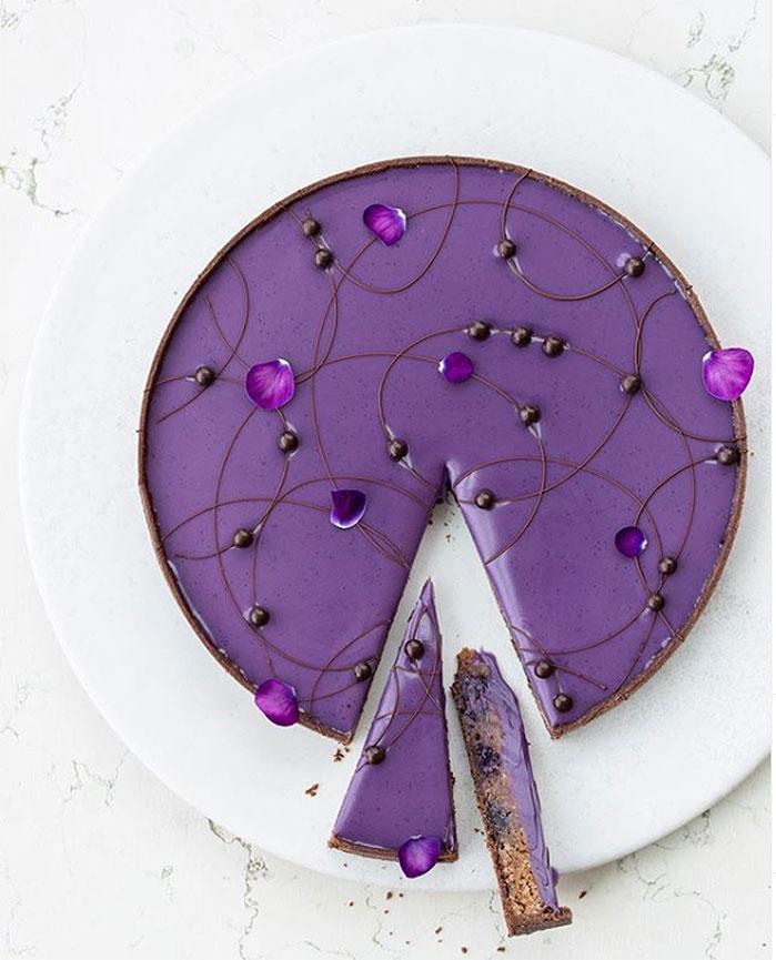 Chocolate Blueberry Frangipane Tart