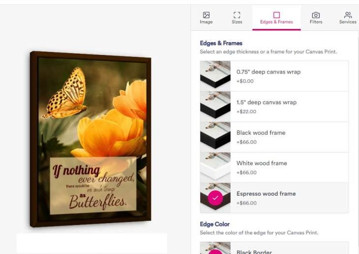 Choosing Canvas Art Print Frame Options