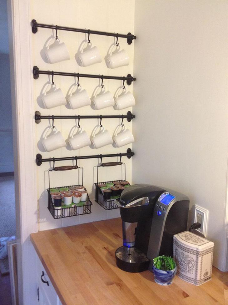 DIY Coffee Mug Rack