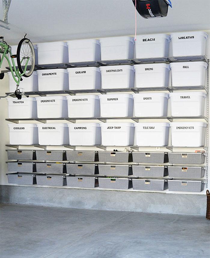 DIY Garage Storage Bin System