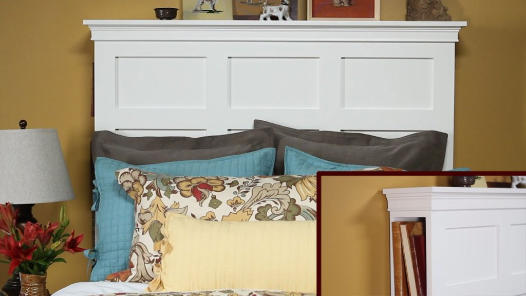 DIY Storage Headboard