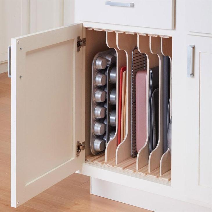DIY Vertical Kitchen Cabinet Organizers
