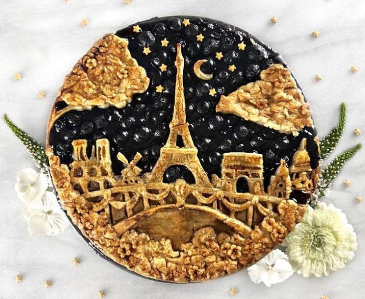Eiffel Tower at Night Pie