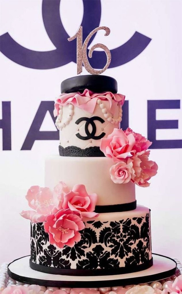 Fashionista Sweet 16 Cake