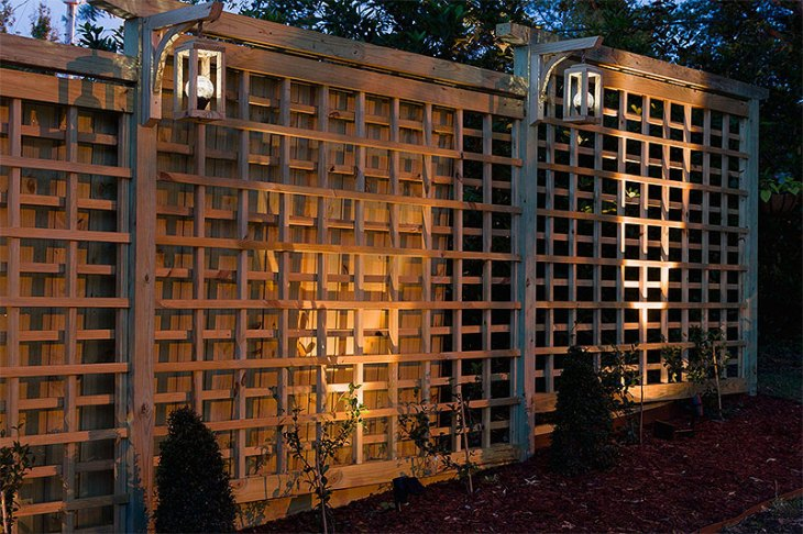 DIY Garden Trellis and Solar Lanterns