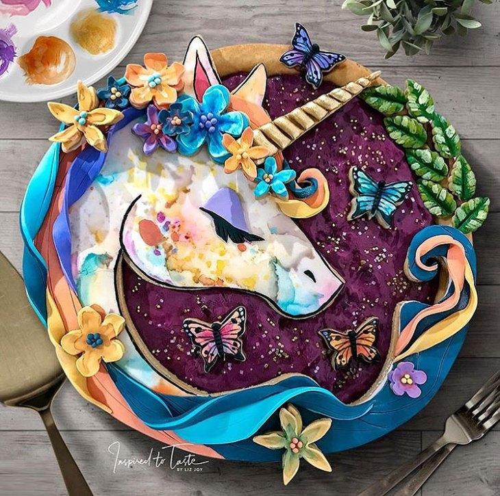 Liz Joy Edible Unicorn Pie
