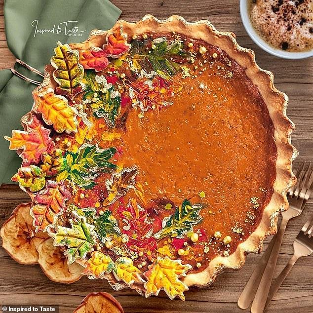 Liz Joy Fall Pumpkin Pie