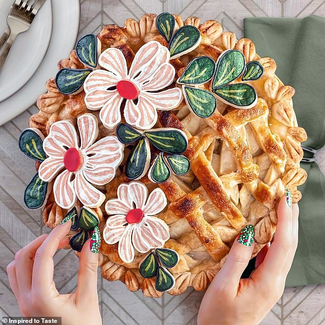 Liz Joy Spring Flowers Pie