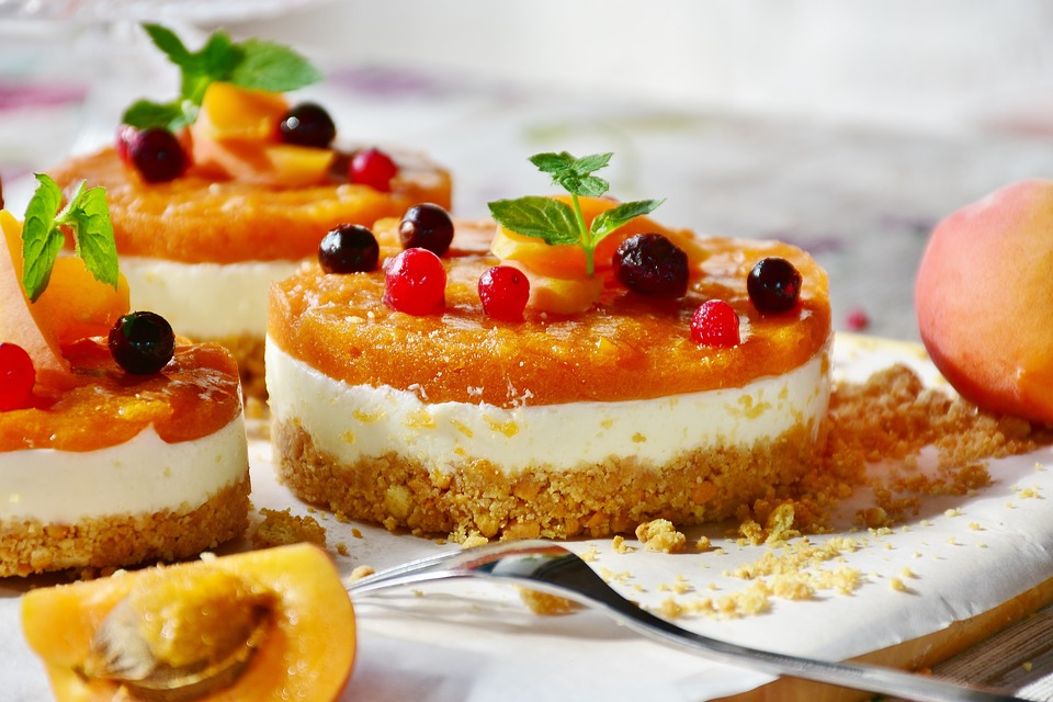 Quark Tart with Apricots