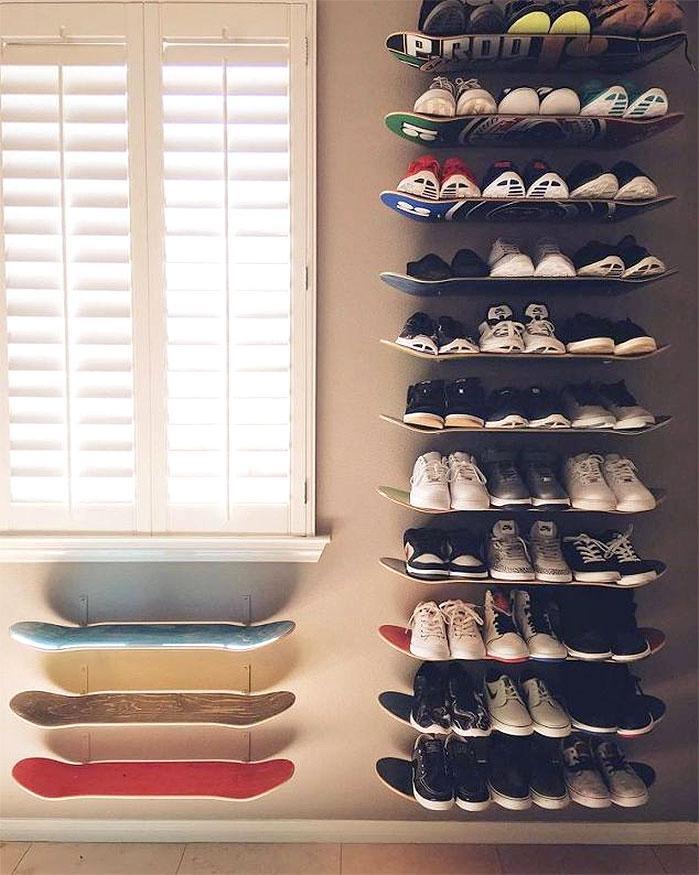 Skateboard Shoe Shelves
