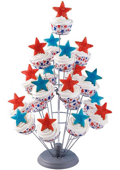 Stars Bursting Into Air Cupcake Tree