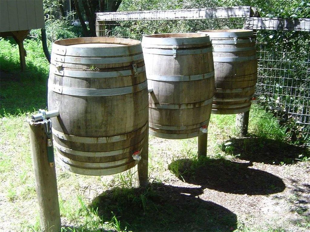 Wine Barrel Outdoor Composter