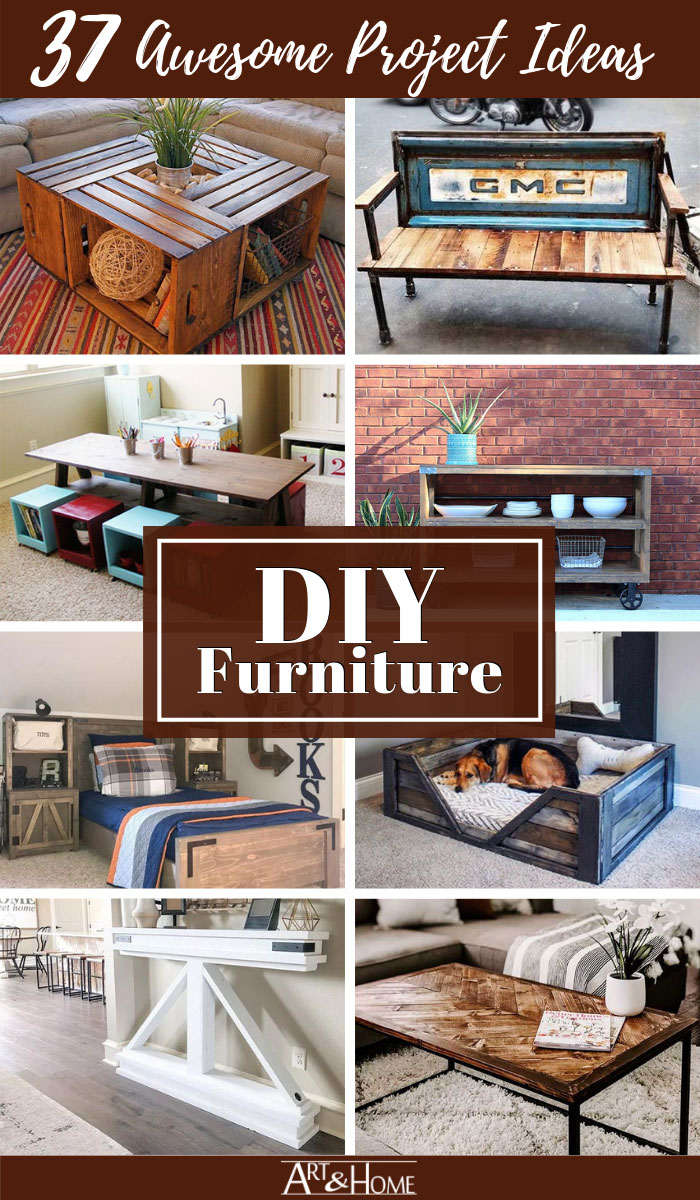 Check out these 37 awesome DIY Furniture project ideas.