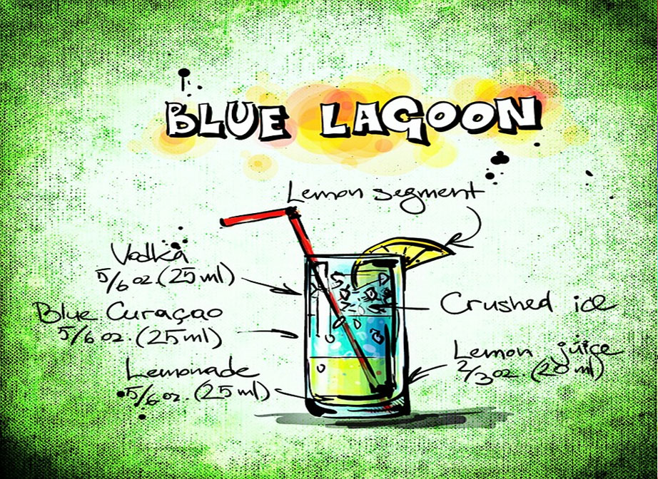 Blue Lagoonr Summer BBQ Cocktail