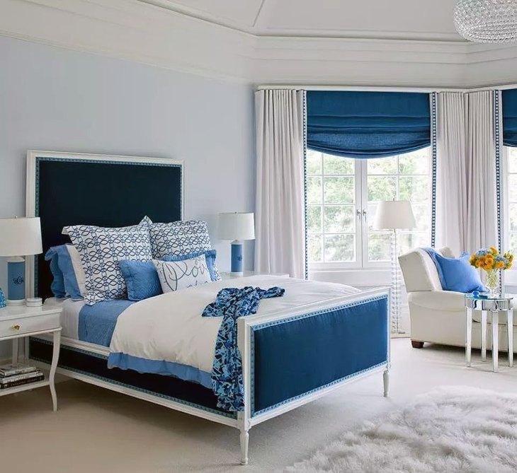 Classic Blue & White Bedroom