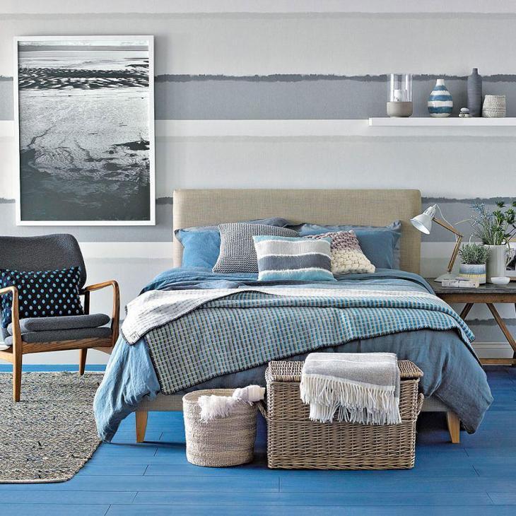 Coastal Stripes Bedroom