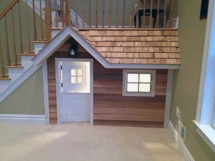 Cute Built In Under Stairs Dog House