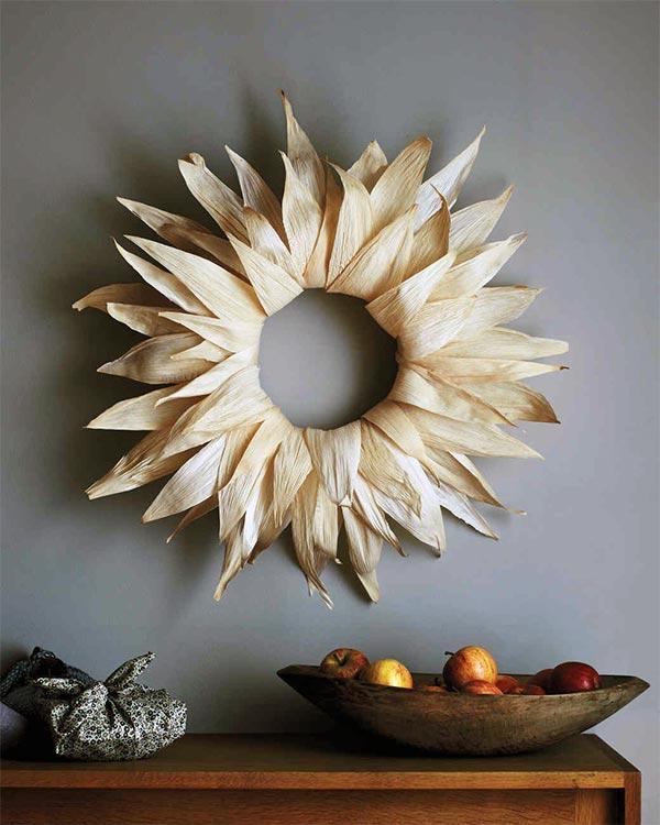 DIY Corn Husk Wreath