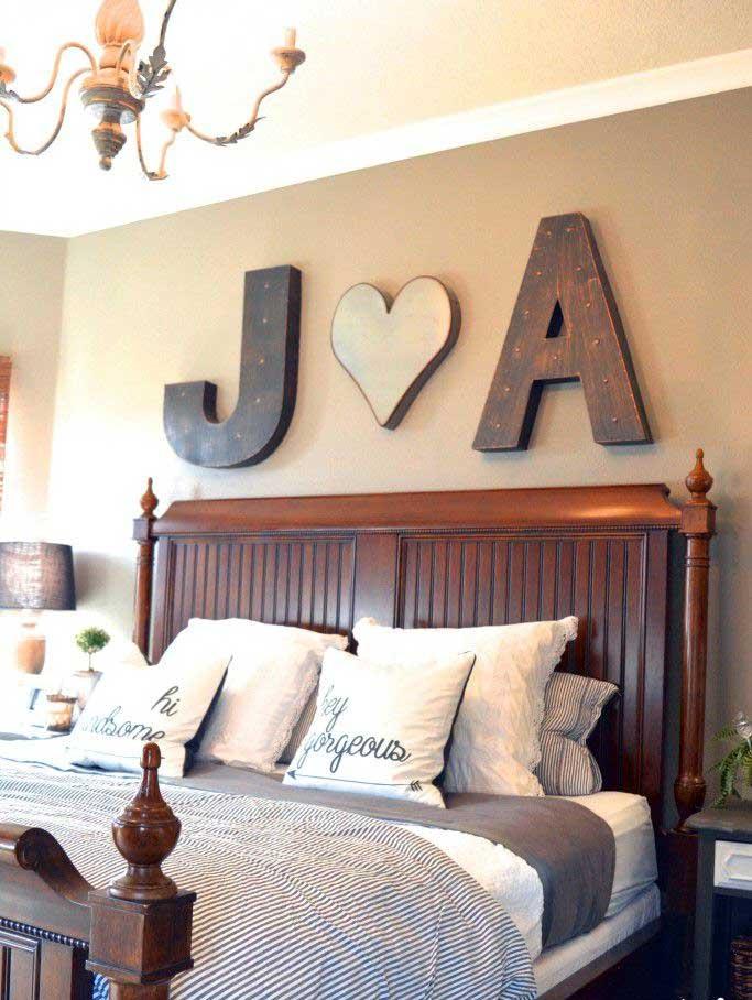 DIY Couple Monogram Wall Decor