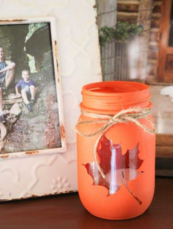 DIY Mason Jar Fall Luminary