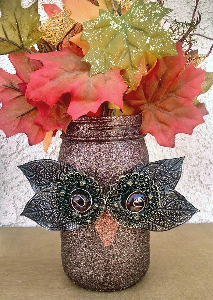 DIY Mason Jar Owl