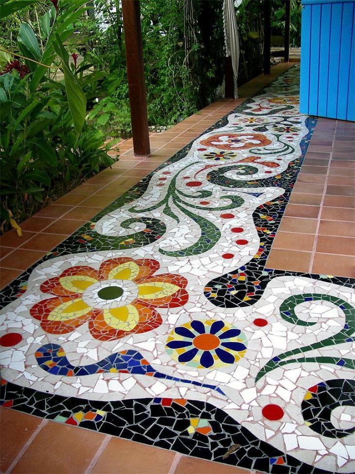 DIY Mosaic Walkway