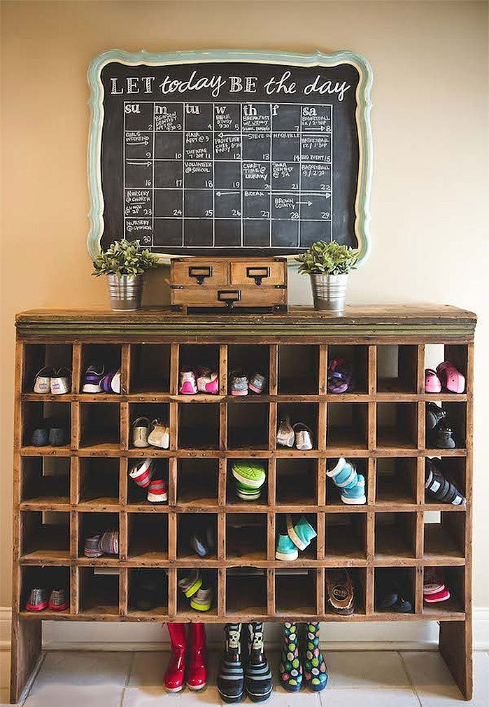 DIY Shoe Cubby Shelf