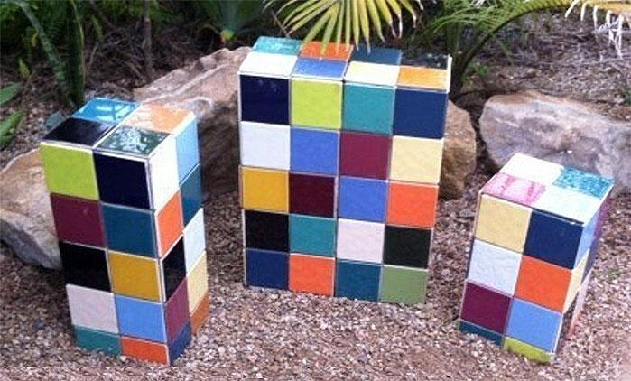 DIY Garden Projects | Tile Yard Art