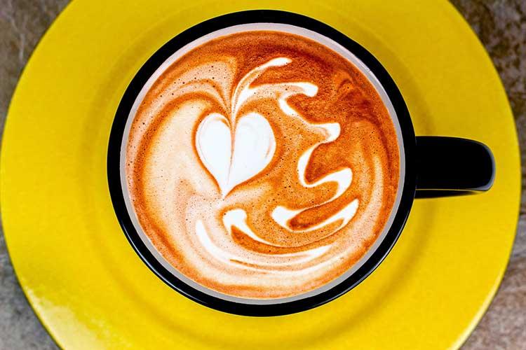 Dangling Heart Latte Art