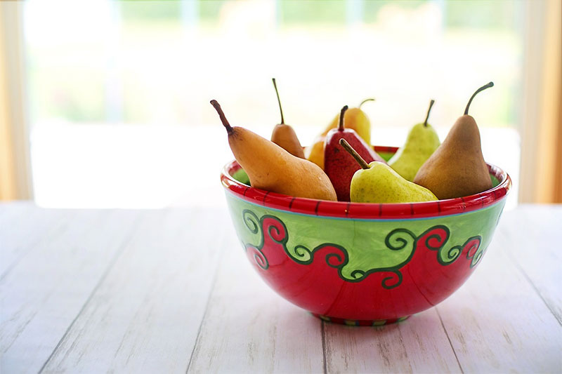 Decorative Bowl of Fresh Pears