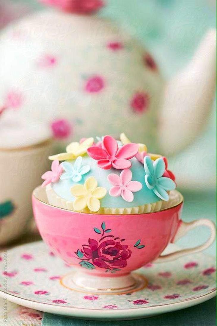 Delicate Teacup Cupcake